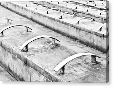 Concrete Seating Canvas Print by Tom Gowanlock