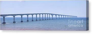 Confederation Bridge Panorama Canvas Print by Elena Elisseeva