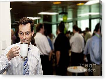 Conference Coffee Break Canvas Print by Jorgo Photography - Wall Art Gallery