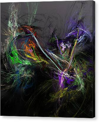 Canvas Print featuring the digital art Conflict by David Lane
