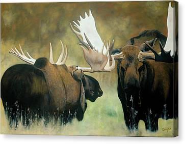 Confrontation Canvas Print by Jean Yves Crispo