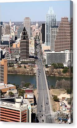 Congress Avenue Austin Texas Canvas Print by Bill Cobb