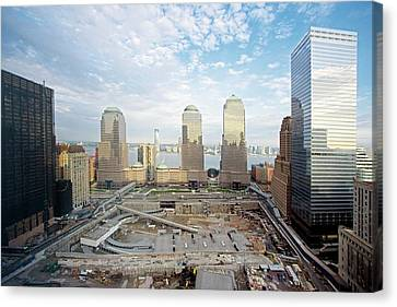 Construction At The Twin Towers Site Canvas Print
