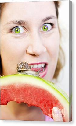 Consuming The Consumer Canvas Print