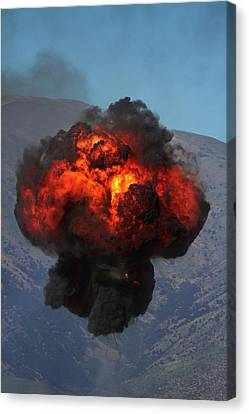 Controlled Explosions At Warbirds Canvas Print