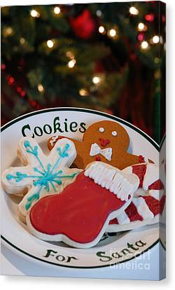 Christmas Canvas Print - Cookies For Santa  by Amy Cicconi