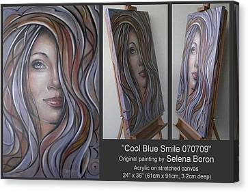 Cool Blue Smile 070709 Canvas Print by Selena Boron