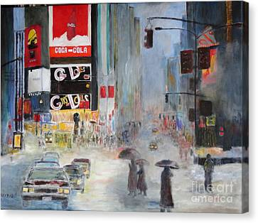 Cool New York Canvas Print by Dagmar Helbig