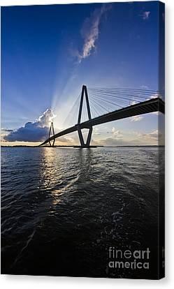 Cooper River Bridge Charleston Sc Canvas Print by Dustin K Ryan
