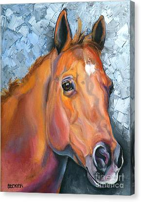 Horse Giclee Canvas Print - Copper Glow by Susan A Becker