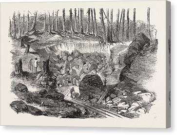 Copper Mine Or Quarry, Near Montreal, Canada Canvas Print