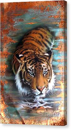 Patina Canvas Print - Copper Tiger II by Sandi Baker