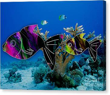 Coral Reef Painting Canvas Print