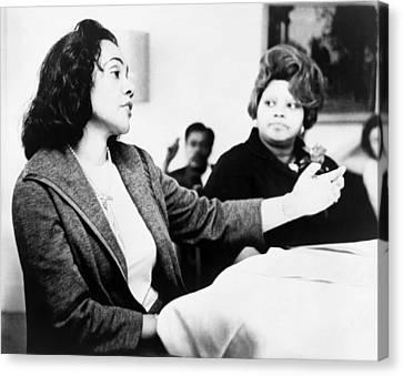 Canvas Print featuring the photograph Coretta Scott King (1927-2006) by Granger