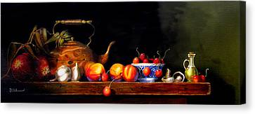 Canvas Print featuring the painting Cornucopia 2 by Barry Williamson