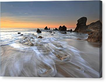 Corona Del Mar Sunrise Canvas Print