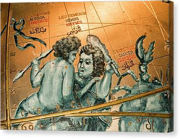 Coronelli's Celestial Globe Canvas Print by David Parker