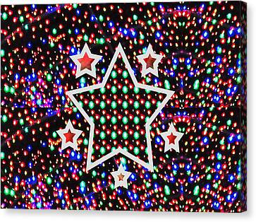 Cosmos Riot Of Colorful Stars And The Sky Materials  Remember Our Planet Look The Same From That Dis Canvas Print