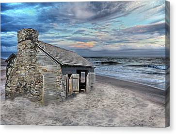 Cottage By The Sea Canvas Print