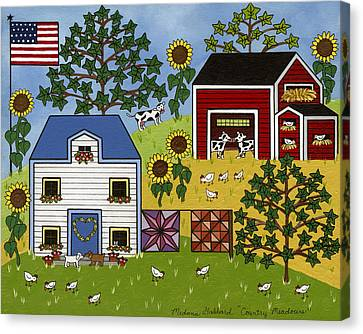 Country Meadows Canvas Print by Medana Gabbard