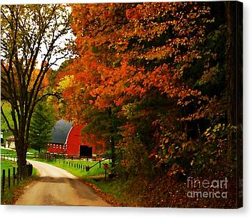 Country Side Painting Canvas Print