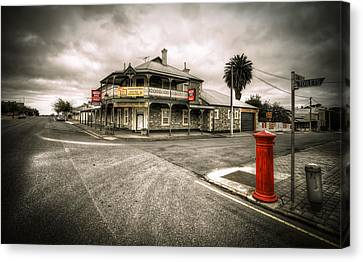 Country Town Canvas Print by Wayne Sherriff