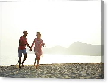 Couple Holding Hands Canvas Print