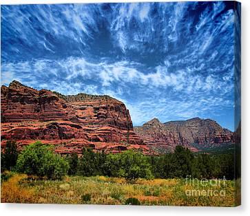Oak Creek Canvas Print - Courthouse Butte Sedona Arizona by Amy Cicconi