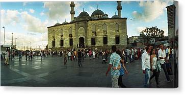 Courtyard In Front Of Yeni Cami Canvas Print by Panoramic Images