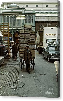 Covent Garden Market 1973 Canvas Print by David Davies