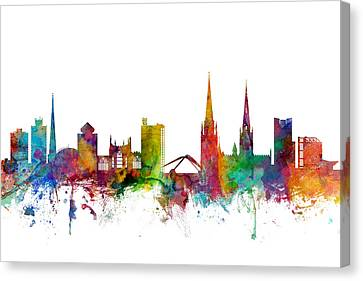 Coventry England Skyline Canvas Print by Michael Tompsett