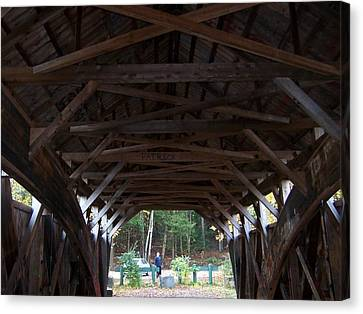 Covered Bridge Canvas Print by Catherine Gagne
