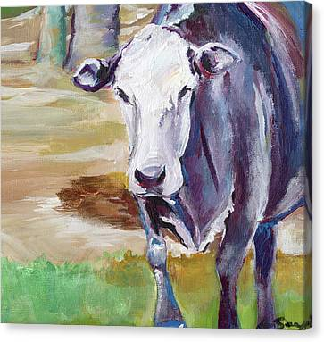 Cow Canvas Print by Anne Seay