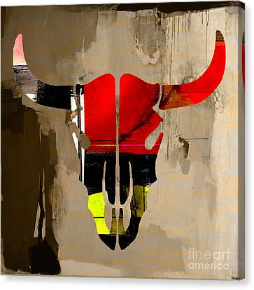 Cow Skull Canvas Print by Marvin Blaine