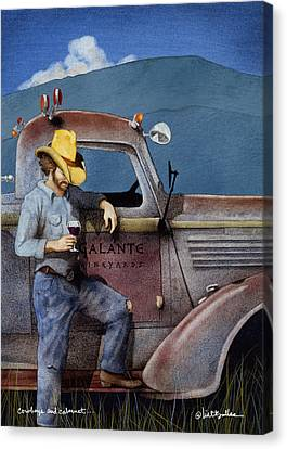 Old Trucks Canvas Print - Cowboys And Cabernet... by Will Bullas