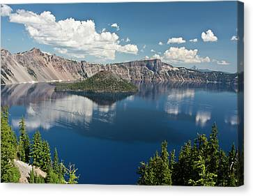 Wizard Island Canvas Print - Crater Lake And Wizard Island, Crater by Michel Hersen