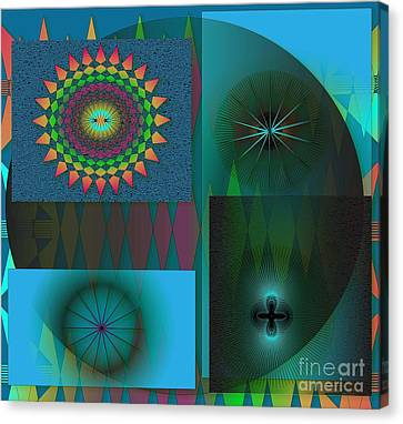 Canvas Print featuring the digital art Crazy by Iris Gelbart