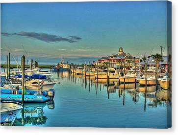 Crazy Sisters Marina Canvas Print by Ed Roberts