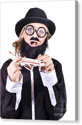 Crazy Terrorist Hijacking Passenger Jet Plane Canvas Print by Jorgo Photography - Wall Art Gallery