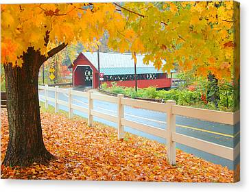 Canvas Print featuring the photograph Creamery Bridge by Paul Miller