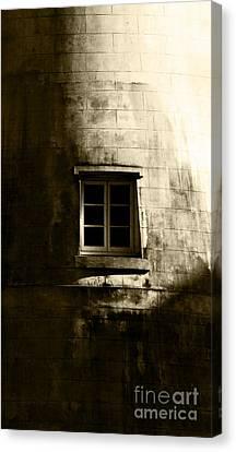 Creepy Windmill Window Canvas Print