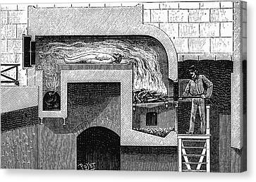 Cremation Furnace Canvas Print by Universal History Archive/uig