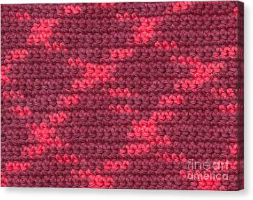Crochet With Variegated Yarn Canvas Print by Kerstin Ivarsson