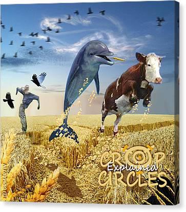 Crop Circles Explained Canvas Print by Douglas Martin