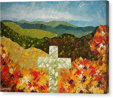 Cross Of The Colorful Ridges Canvas Print by Ralph Loffredo