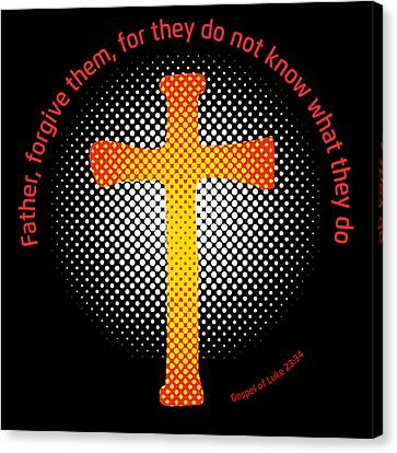 Jesus Christ Icon Canvas Print - Crucifix And Gospel by Alain De Maximy