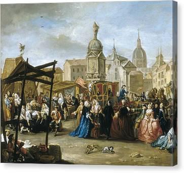 Cruz V�zquez, Manuel De La 1750-1792 Canvas Print