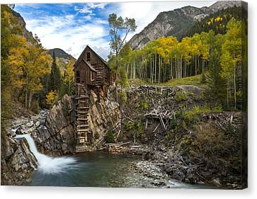 Crystal Colorado Canvas Print - Crystal Mill  by Tom Cuccio