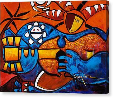 Puerto Rico Canvas Print - Cuatro En Grande by Oscar Ortiz