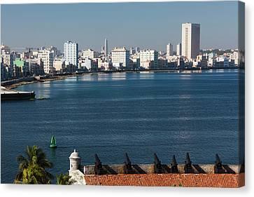 Habana Canvas Print - Cuba, Havana, Elevated View by Walter Bibikow